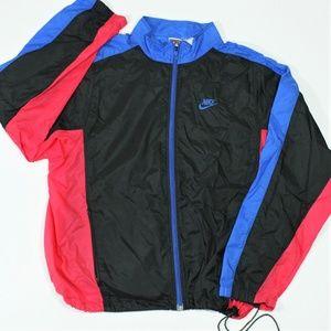 VTG Nike Color Block Windbreaker Track Jacket XL